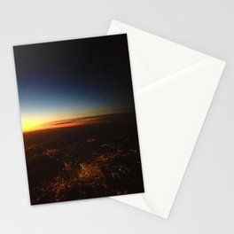 Sunset from a Plane's View Stationery Cards