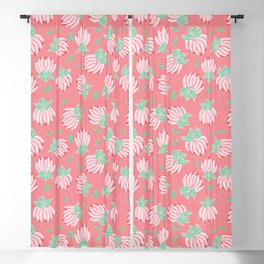 Blush Bloom Peony Blossom Blackout Curtain