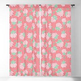 Blush Bloom Peony Blossom Blackout Curtain