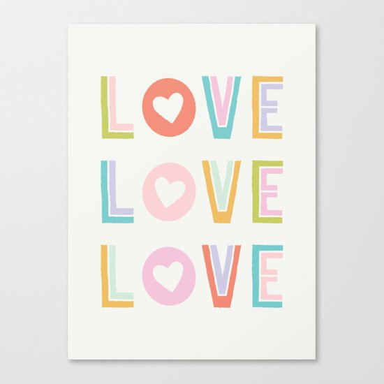 Love x3 Canvas Print