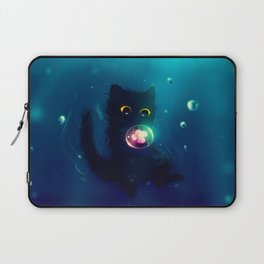 Kitten in the Water with a Bubble Laptop Sleeve