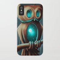 night iPhone & iPod Cases featuring Night Owl by Chump Magic