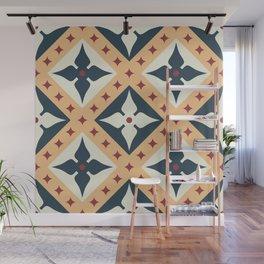 Basilica ceramic tile pattern Wall Mural