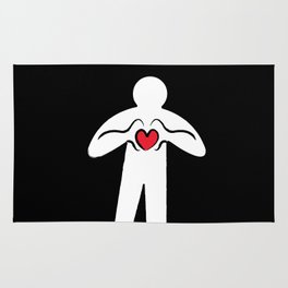 From Haring with Love Rug