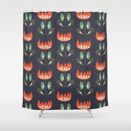 Scandinavian Wildflowers Shower Curtain