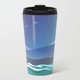 Mont Taranaki From The Sea Metal Travel Mug