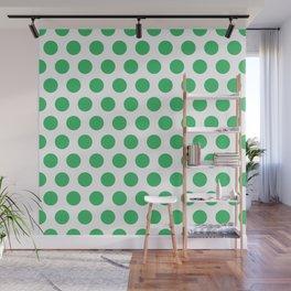 Green and White Polka Dots 771 Wall Mural