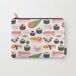 Kawaii sushi white Carry-All Pouch