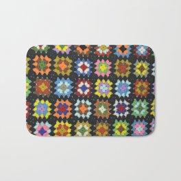 Crochet Granny Squares // Bright Bath Mat