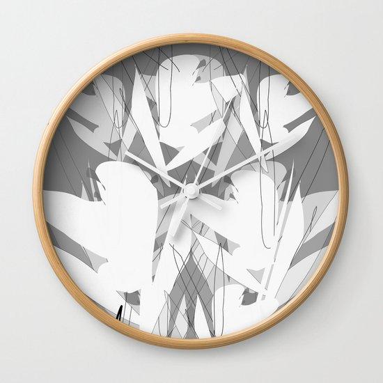 White Flowers Society6 Decor Buyart Wall Clock By
