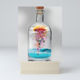 Electric Jellyfish Worlds in  a Bottle Mini Art Print