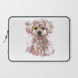 Vintage doggy Bichon frise.DISCOVER Laptop Sleeve
