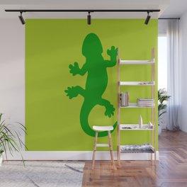 Green Lizard Wall Mural