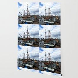 Bristol, England. Ships on the harbor Wallpaper