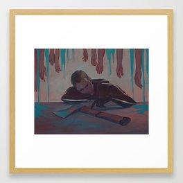 Kill the addict to kill the addiction Framed Art Print