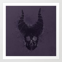 maleficent Art Prints featuring maleficent  by jerbing