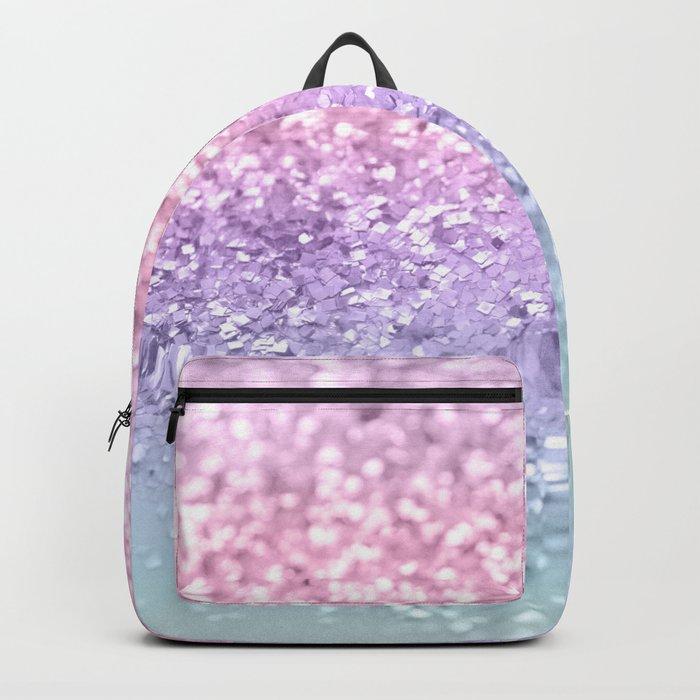 Unicorn Girls Glitter #1 #shiny #pastel #decor #art #society6 Rucksack