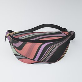 ROMA - bright bold abstract colours with black Fanny Pack