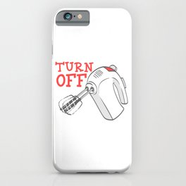 Pie Dinner Food Funny Gag Thanksgiving Day Dessert Funny Turn Off Before Licking T-shirt Design iPhone Case