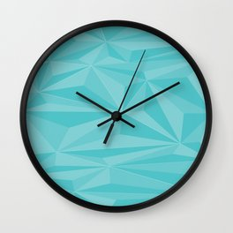 Geometric Blues by Izzy Alo Wall Clock