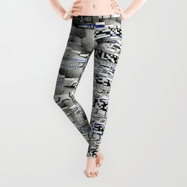 Winding Up Mechanical (P/D3 Glitch Collage Studies) Leggings