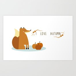 I love Autumm Art Print