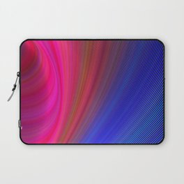 Fractal Art Waves of Elegant Color Design Laptop Sleeve