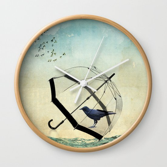 Black rain Wall Clock