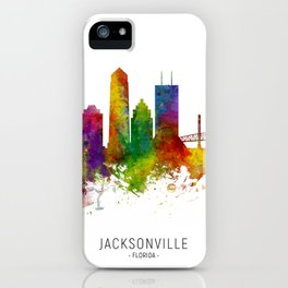 Jacksonville Florida Skyline iPhone Case