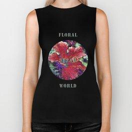 Floral Dream World Biker Tank