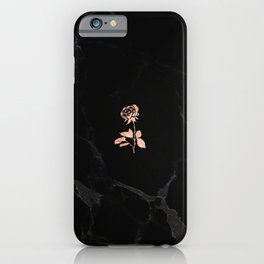Forever Petal (Black Rose) iPhone Case