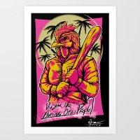 hotline miami Art Prints featuring Hotline Miami by Alex Trinidad Art