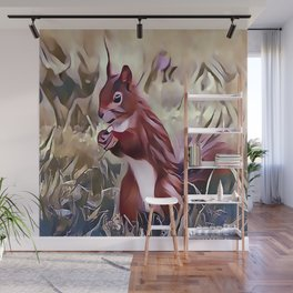 The Red Cheeked Ground Squirrel Wall Mural