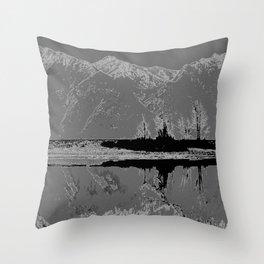 Knik River Mts. Pop Art - 3 Throw Pillow