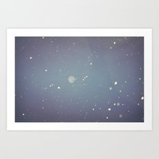 Snow falling down on me Art Print