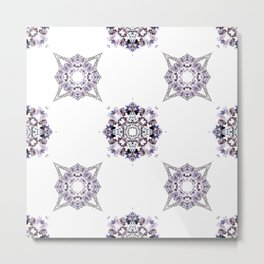 Pret A Porter Purple Pattern Metal Print