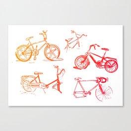 summer bikes Canvas Print
