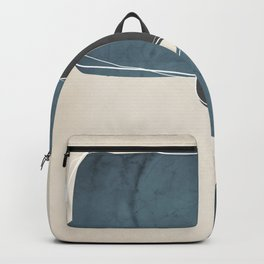 Retro Abstract Design in Charcoal Grey and Teal Backpack
