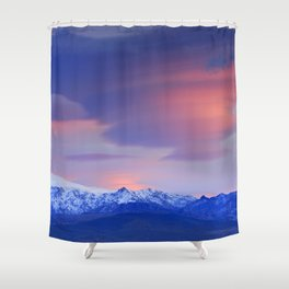 Lenticular clouds over Sierra Nevada National Park Shower Curtain