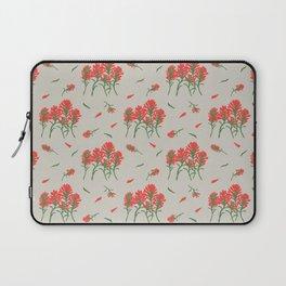 Floral-Indian Paintbrush-Gray Laptop Sleeve