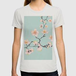 Sakura Cherry Blossoms x Mint Green T-shirt