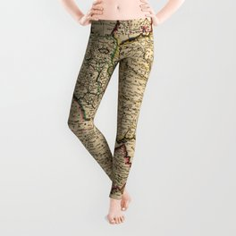 Map of the Middle East (1666) Leggings