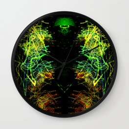 Dark Alien Light Storm Wall Clock