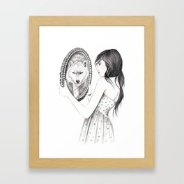 White Ghost Framed Art Print