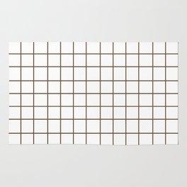Grid (Coffee/White) Rug