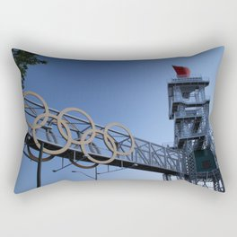 Olympic Rings in Atlanta Rectangular Pillow