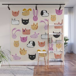 All the Pets Wall Mural