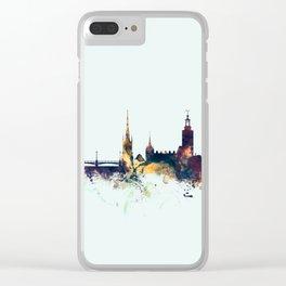 Stockholm Sweden Skyline Clear iPhone Case