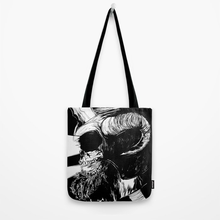 The Dead: Viking Skull of Power Tote Bag