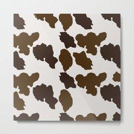 Cowhide Pattern Metal Print